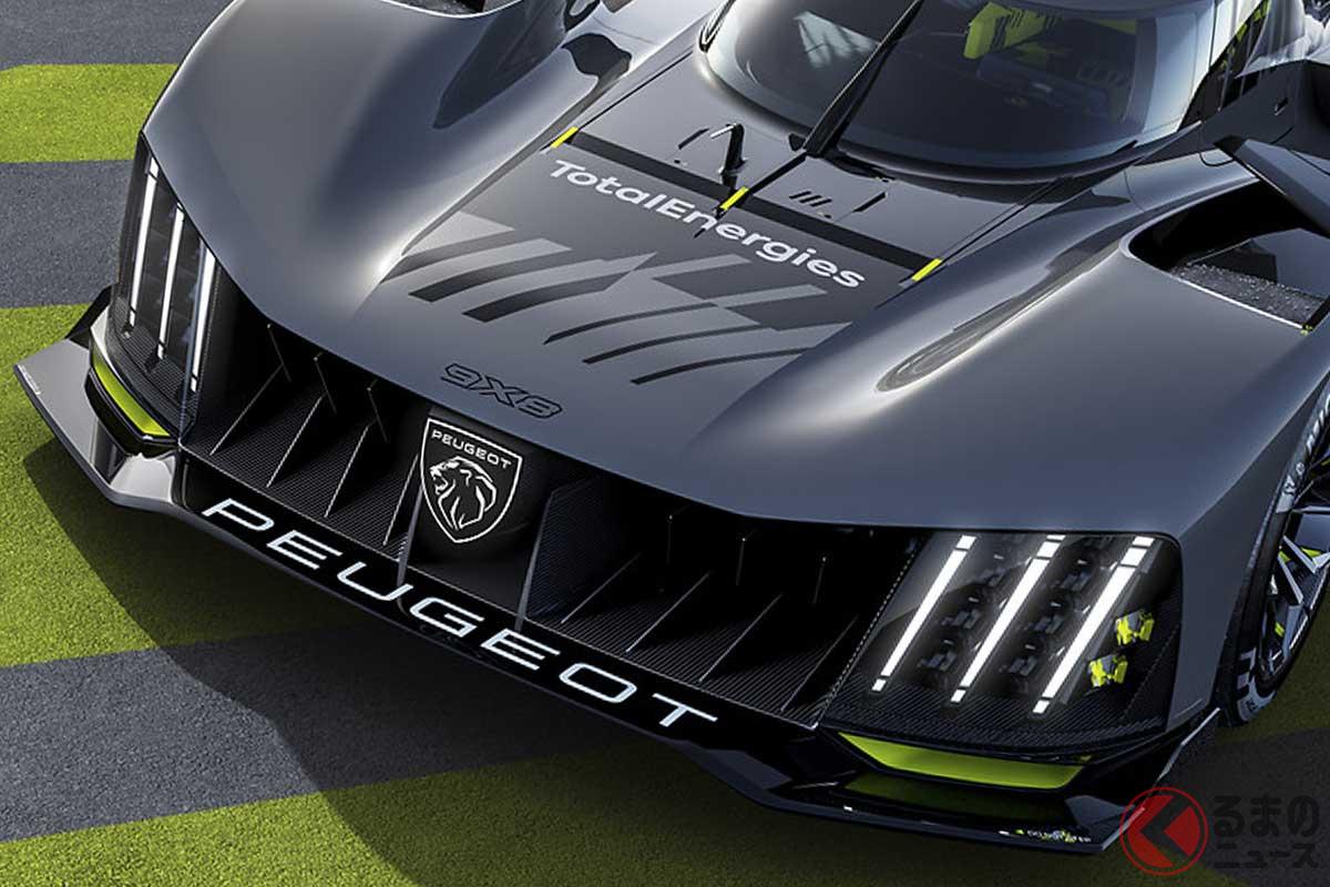 リアウイングがないプジョーの新型レーシングマシン「9X8」