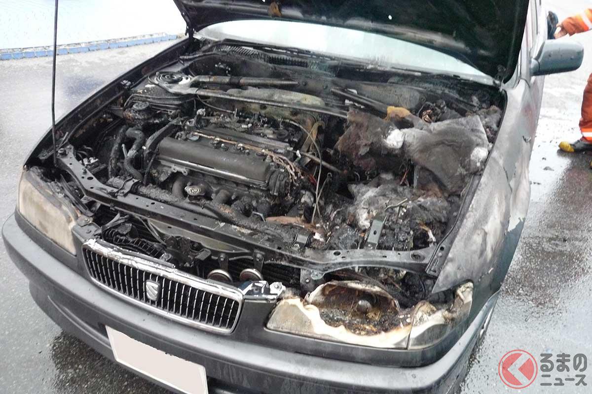 エンジンから火が出たクルマ