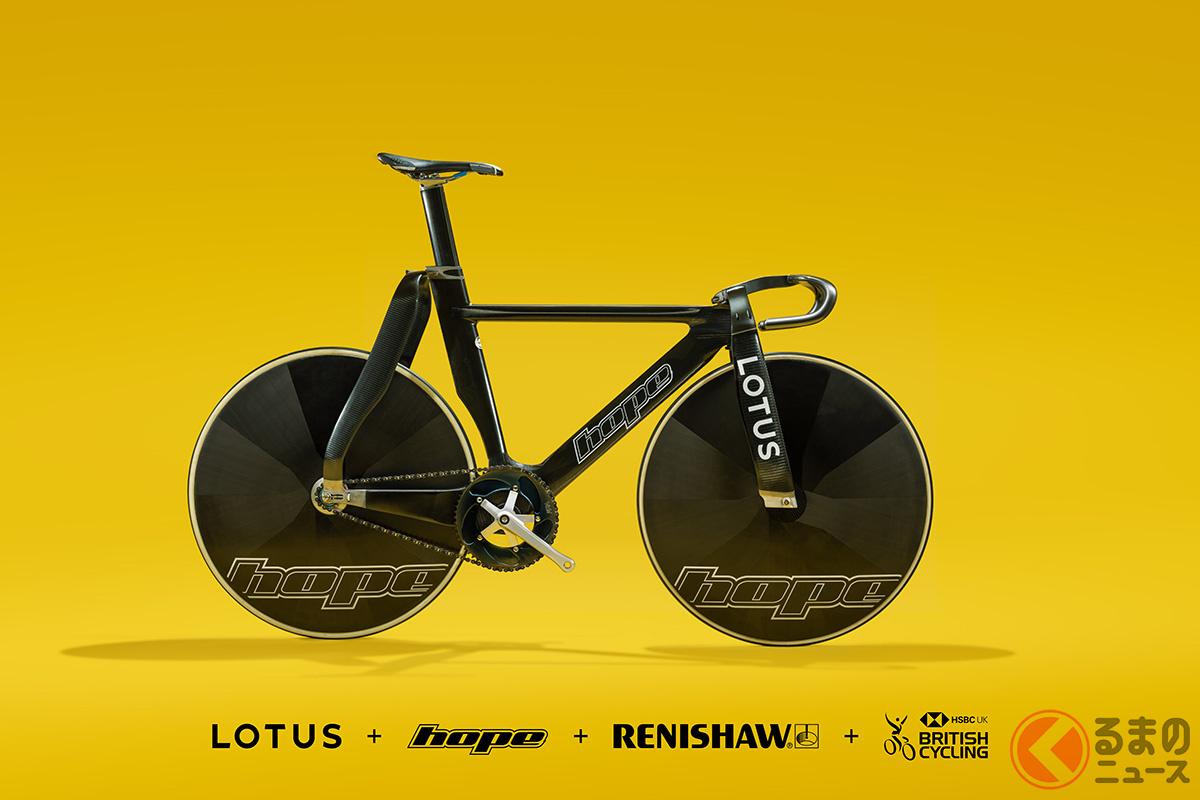 オリンピックの英国代表チームのために製作された「ホープ/ロータス・トラック・バイク」