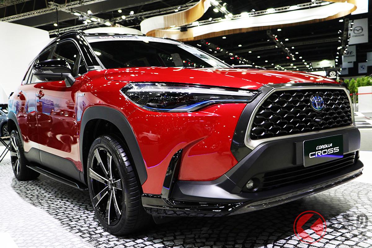 2020年7月9日にタイで世界初公開された新型カローラクロス。その後、順次各地域で販売され、いよいよ日本市場へ導入される(画像はタイ仕様のオプション装着車)