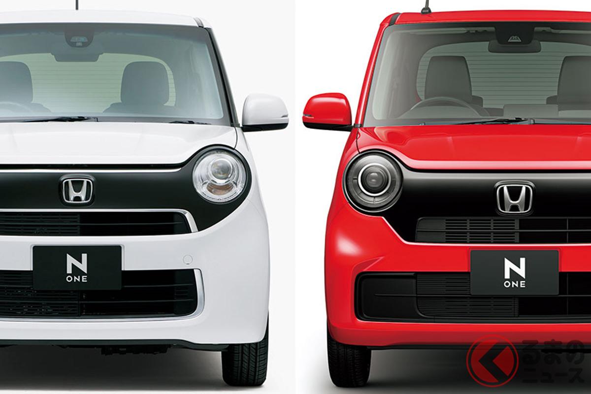 フルモデルチェンジで大幅に進化! 見た目の違いは分かる? (左:先代N-ONE/右:新型N-ONE)
