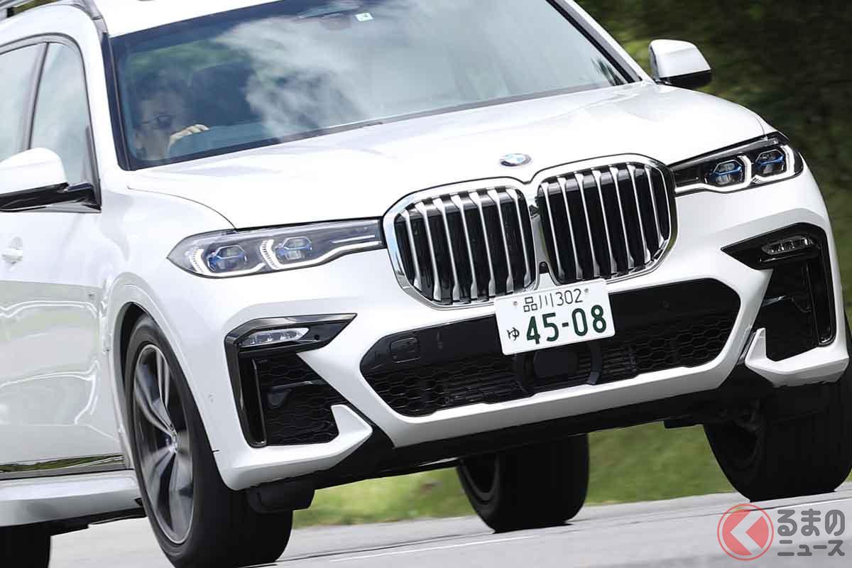 BMW「X7 xドライブ40d Mスポーツ」の走り。試乗車のボディカラーはミネラル・ホワイト(オプション:11万円)