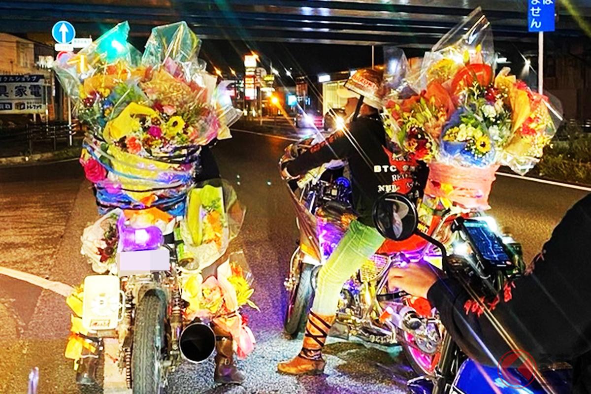 9月25日の夜、千葉県幕張市周辺に全国各地から旧車會が集まった様子(画像提供:写真:佐野真之)