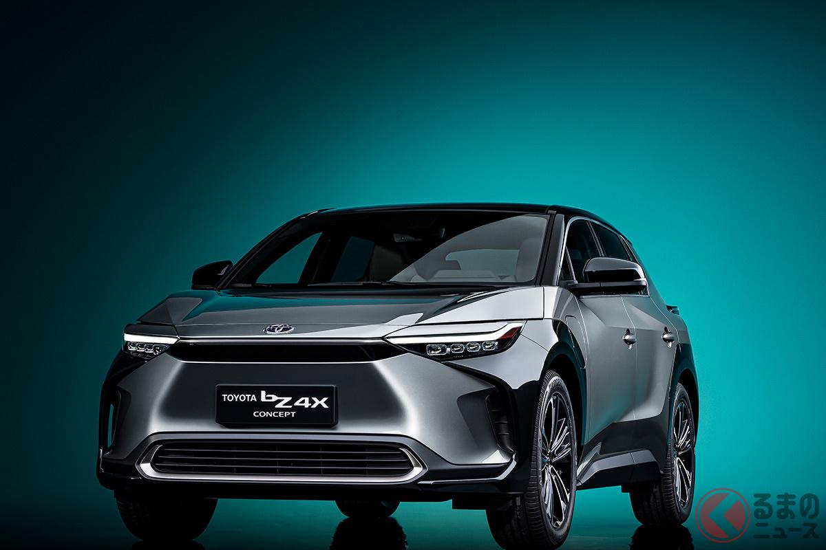 トヨタ新型「bZ4Xコンセプト」(2021年4月の上海モーターショーで発表)