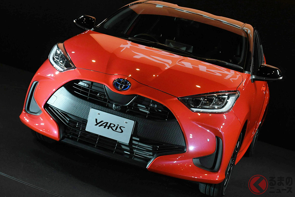 国産普通車でもっともカタログ燃費の良いトヨタ「ヤリス」