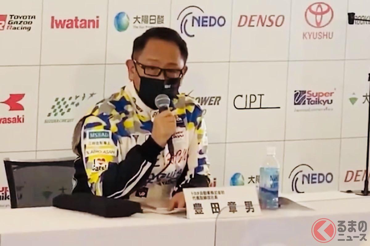 鈴鹿大会に参戦するドライバー「モリゾウ」(トヨタの代表取締役社長)兼(日本自動車工業会 会長)
