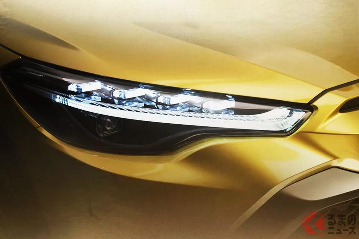 広汽トヨタで公開されている新型SUV「フロントランダー」とみられるティザー画像