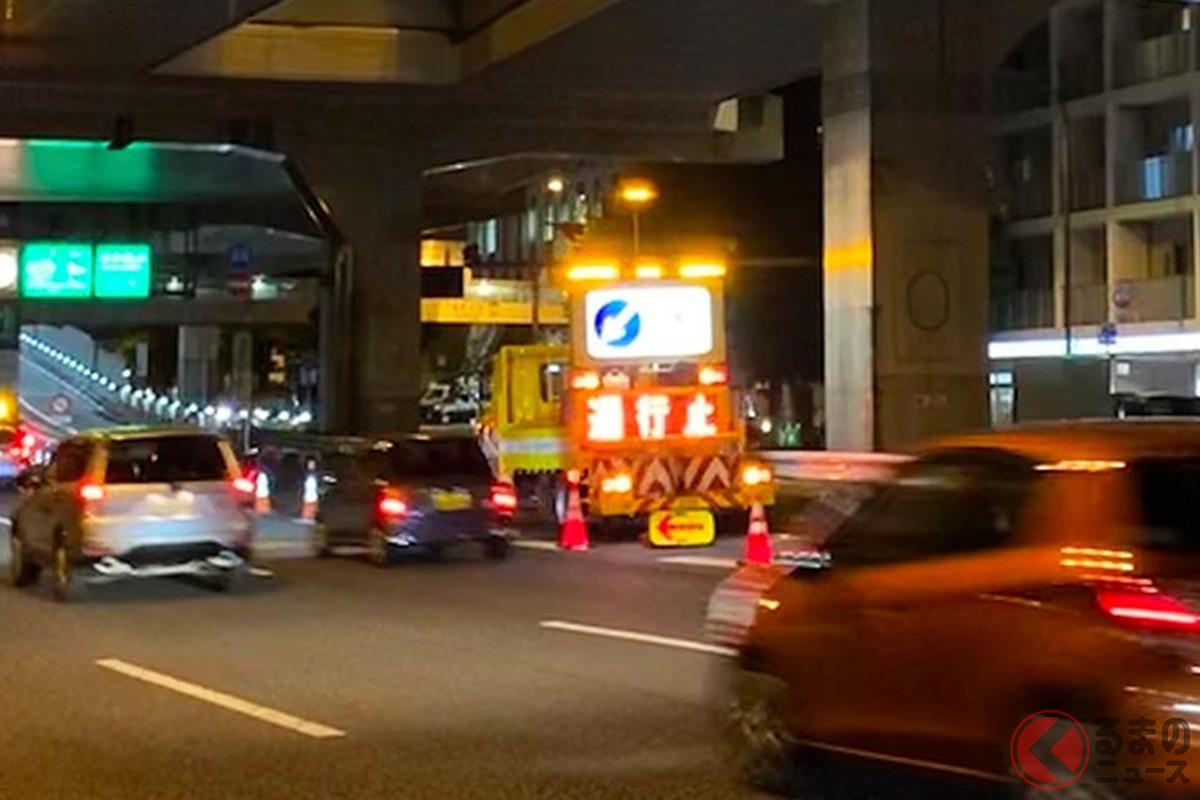 なぜ道路工事は夜におこなわれることが多いのか?