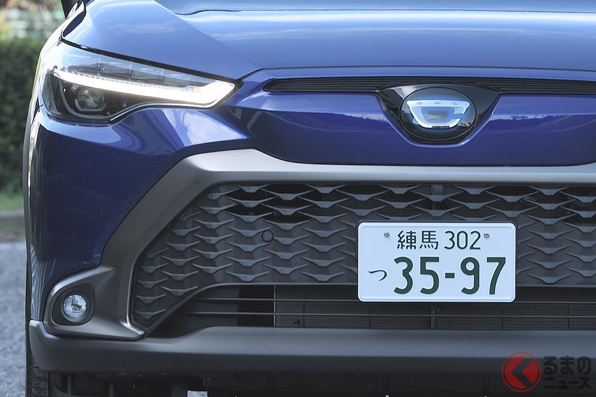 海外仕様とは異なるデザインを採用した日本仕様の新型カローラクロス