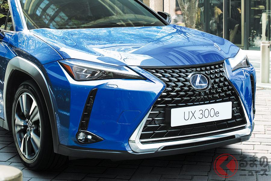レクサスブランド初となる「UX300e」。今年度分は135台の抽選販売となる。