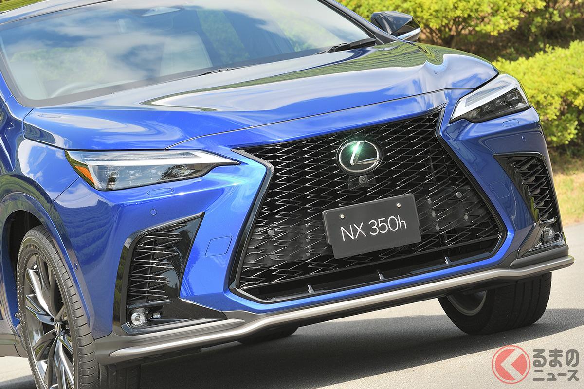 すべてが変わった! レクサス新型「NX」の特徴とは? (画像はハイブリッド車「NX 350h(F SPORT)」)