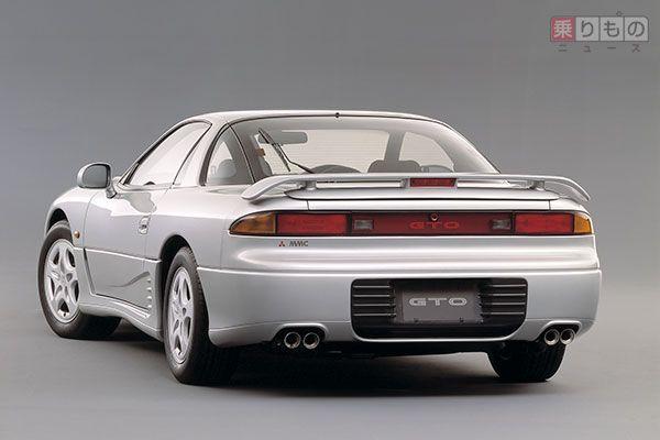三菱「GTO」前期型のバックショット(画像:三菱自動車)。