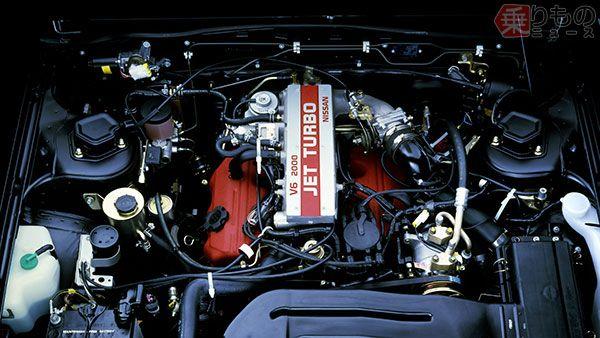前期型VG20ET(ジェットターボ)エンジン(画像:日産自動車)。