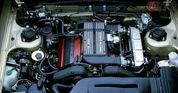 前期型VG30DEエンジン(画像:日産自動車)。