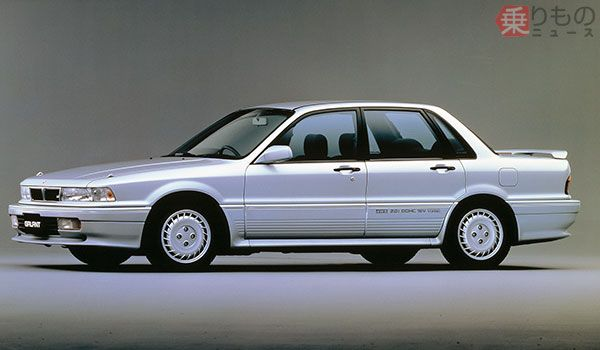 6代目「ギャラン」は1987年10月発売(画像:三菱自)。