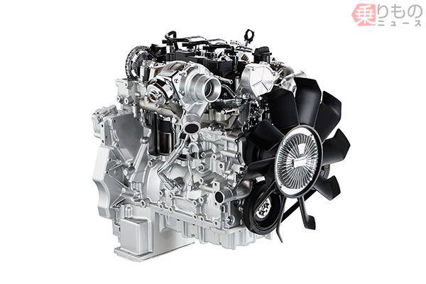 ディーゼルエンジン、RZ4E-TC(画像:いすゞ)。